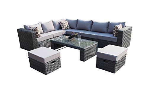 6pc milan modular rattan corner sofa set under 10000 cheap yakoe 50020 papaver conservatory 9 seater garden furniture