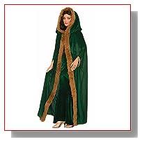 Medieval Fantasy Fur Trimmed Hooded Cape Adult