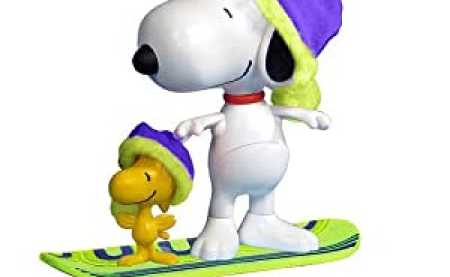 Amazon Peanuts 2010 Christmas Deluxe Snowboard Snoopy