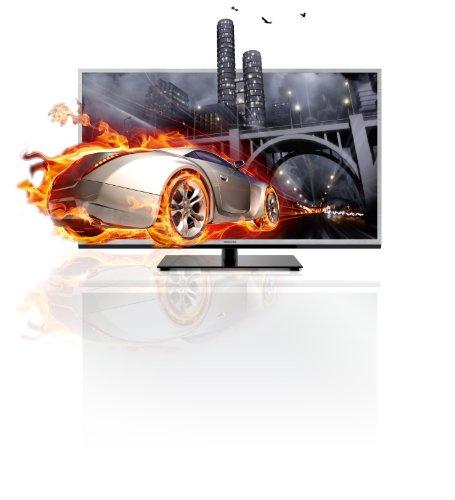 Toshiba 46TL933G 116,8 cm (46 Zoll) 3D LED-Backlight-Fernseher, Energieeffizienzklasse A+ (Full-HD, 200Hz AMR, DVB-T/C, CI+, DLNA, Web-TV) silber