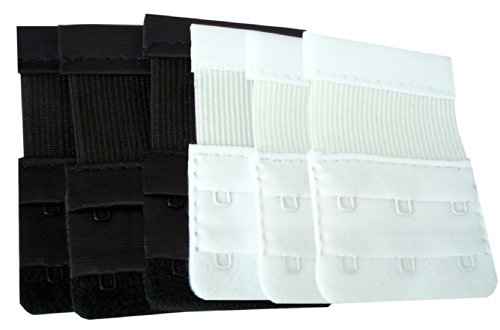 BH-Verlängerung mit 3 Haken, 6 Stück (3 Schwarz, 3 Weiß)