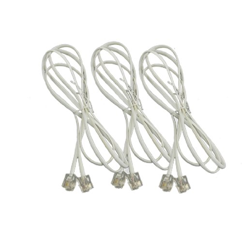 Uxcell a11092900ux0256 RJ11 Telephone Phone Extension Cord