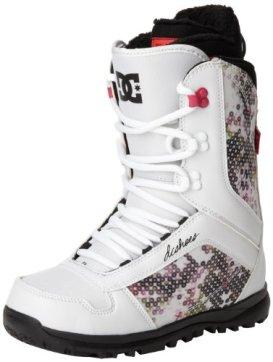 DC Women's Karma Snowboard Boot,White,9 US/9 M US