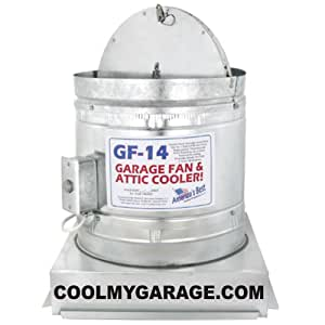Gf14 Garage Fan And Attic Cooler  Ceiling Fans  Amazonm