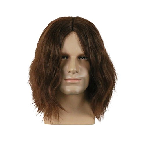 BFJ Captain America The Winter Soldier Bucky Barnes Brown Cosplay Wigs Costume