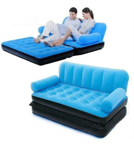 bestway inflatable air sofa couch bed fest amsterdam clay comfort quest ...