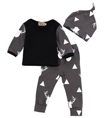 3PcsSet-Newborn-Baby-Girl-Boy-Deer-Tops-T-shirtLeggings-Hat-Outfits-Pajamas-Set