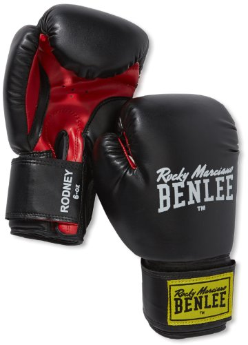 BENLEE Rocky Marciano Boxhandschuhe Training Gloves Rodney, Schwarz/Rot, 14, 194007