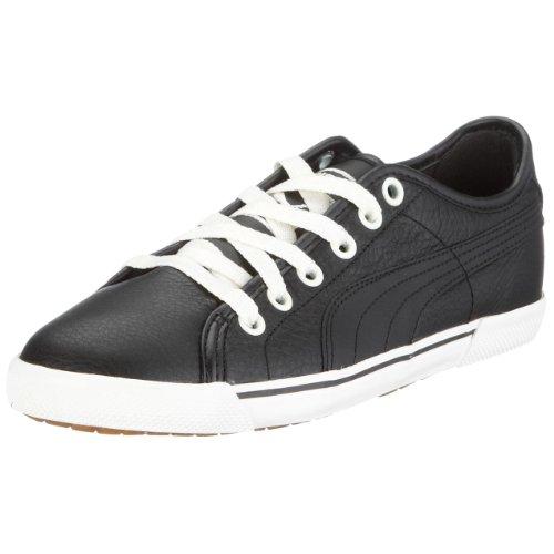 Puma Benecio Leather 351038, Unisex - Erwachsene, Sneaker, Schwarz (black 01), EU 43 (UK 9) (US 10)