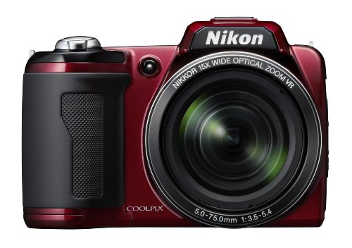 Nikon Coolpix L110 12 MP Digital Camera with 15x Optical Vibration Reduction (VR) Zoom and 3.0-Inch LCD (Red)