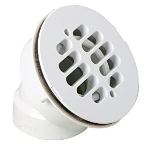 Amazon.com: Canplas 322542W 45 Degree Offset Shower Drain