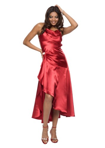 Satin Abendkleid , Cocktailkleid, Partykleid, Kleid, Farbe rot, Gr.38