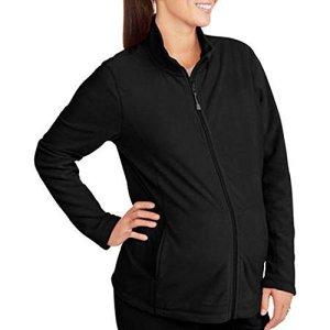 Danskin-Maternity-Loose-fit-Microfleece-Fleece-Full-Zip-Jacket