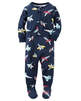 Carters-Baby-Boys-Snug-Fit-Cotton-Footie-Pajamas-2T-Navy-Airplanes
