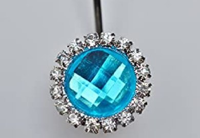 Blue Crystal Shower Curtain Hooks