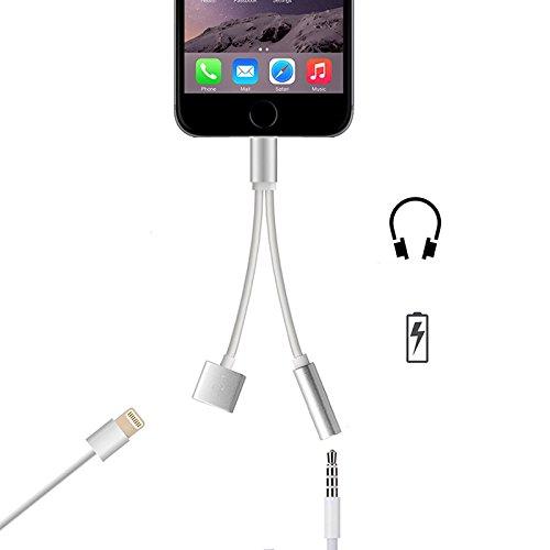FUSHITON iPhone 7/iPhone 7 Plus対応 イヤホン変換ケーブルlightingコネクタ 3.5mmヘッドホンジャツク マイクイヤホンアダプタ 小型 携帯便利