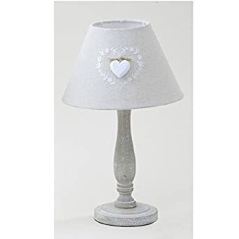 Shabby Chic White Heart Table Lamp: Amazon.co.uk: Lighting