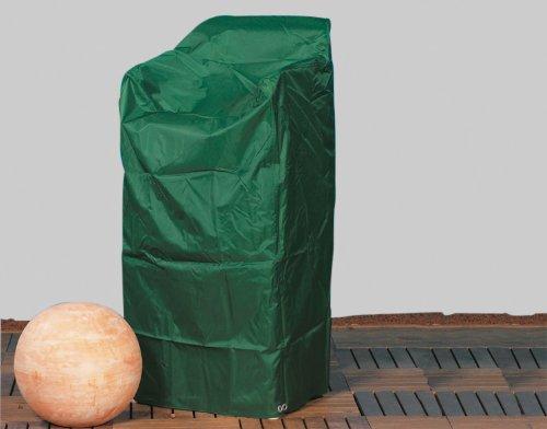 Premium Abdeckhaube für Stapelstühle, 66x66x160cm, grün