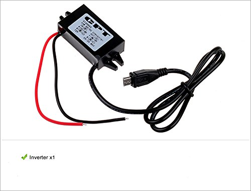 Generic DC 12V to 5V Inverter Micro USB Hard Wired Car