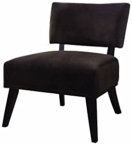 Amazoncom Coaster Microfiber Accent Chair Chocolate