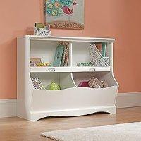 Amazon.com: Bookcase Toy Chest - Soft White Finish: Baby
