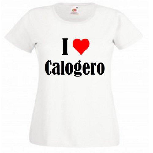 T Shirt I Love Calogero Pour Les Hommes Femmes Et Enfants