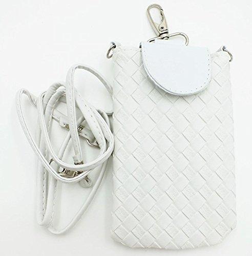 Shop XJ ガジェットケース 携帯 スマホ ポーチ 入れ物 鞄 外付け ホルスター ポシェット マグネット タイプ ホワイト