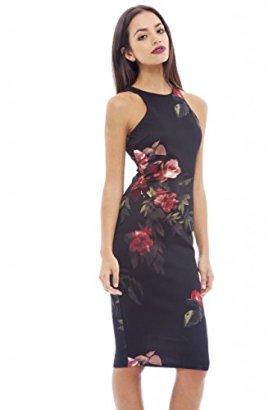 AX-Paris-Womens-Floral-Bodycon-Midi-Dress