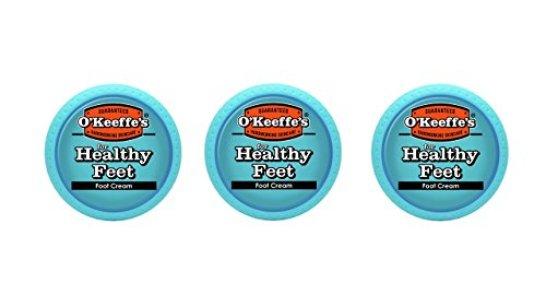 O'Keeffe's K0320001-3 Healthy Feet Foot Cream in Jar (3 Pack), 3.2 oz
