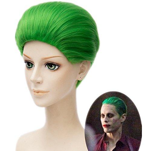 MSHUI DC Comics Suicide Squad Classic Batman Joker Cosplay wig Green Short Hair