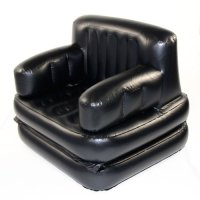 Smart Air Beds 4 X 1 Inflatable Chair (Single, Black ...