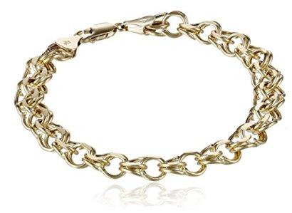 14k-Gold-7mm-Charm-Bracelet-725