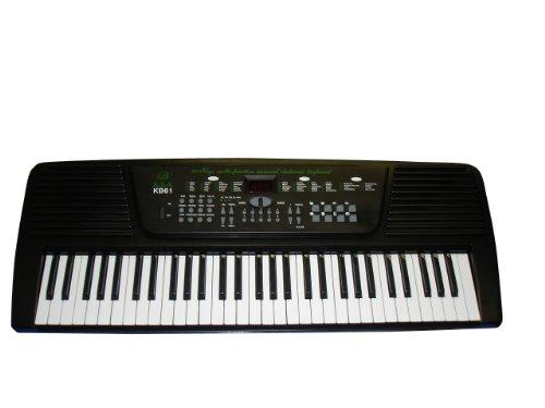 54 Keys Keyboard Student Electronic Digital Piano - Black - with AC Adapter (Free eLessons & DirectlyCheap(TM) Translucent Blue Medium Guitar Pick)