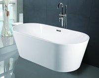 Empava A1507W Luxury Modern Bathroom Freestanding Bathtub ...