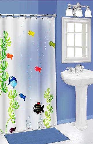 Kids Tropical Fish Bathroom Decor