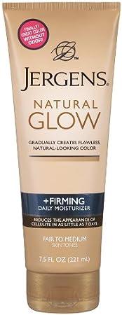 Jergens Natural Glow Firming Moisturizer, Fair to Medium Skin Tones 7.5 Ounces