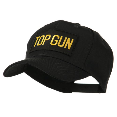 Military Related Text Embroidered Patch Cap - Top Gun OSFM