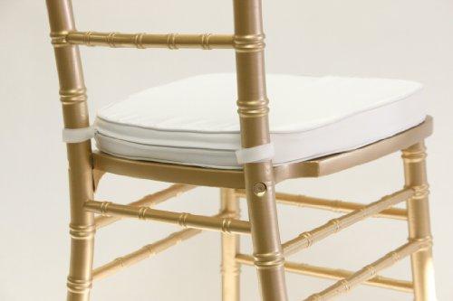Cheap Chiavari Chair Cushion White Velcro Straps  Dining