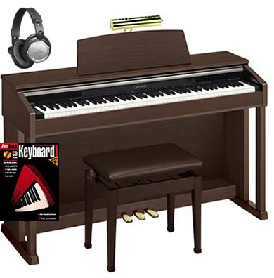 Casio AP420 Celviano Digital Piano BUNDLE with Bench, Headphones, Book, and Lamp