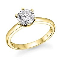 1/2 ct. Round Diamond Solitaire Engagement Ring in 18k ...