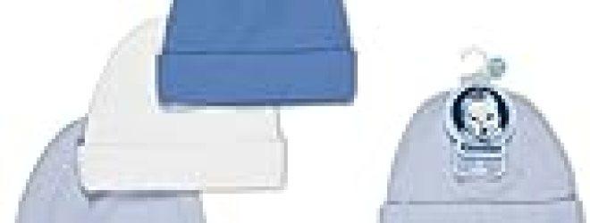 Gerber Textured Knit Cotton 3 Pack Caps Boys Color Size 0-6 Months