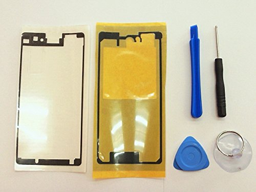 ドコモ Xperia Z1 f SO-02F Z1 compact  液晶パネル シール バックパネル テープ 接着テープ 交換パーツ 修理部品 前後二枚セット+修理工具付き