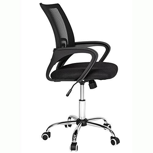 TecTake Silla de oficina giratoria con soporte lumbar silln ejecutivo silla de escritorio negro tejid  Tienda ArQuitexs Tienda ArQuitexs