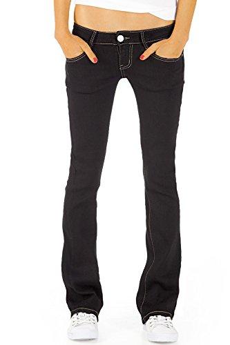 Bestyledberlin Damen Jeans hüftige Jeanshosen, Bootcutjeans low rise Hüftjeans Stretch Hose j46kwxx