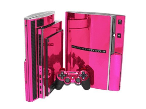 Best Deals PlayStation 3 Skin PS3 NEW PINK CHROME