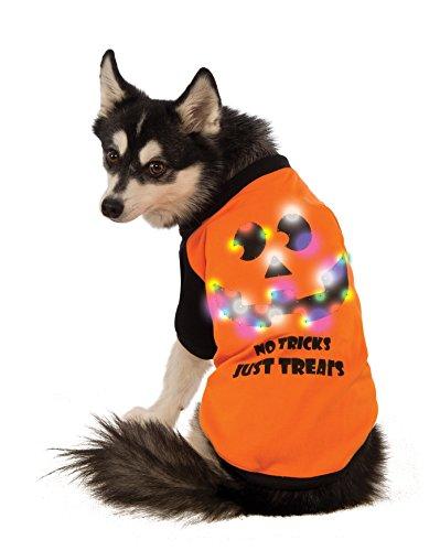 LED Light-Up Halloween Dog Shirt, XX-Large