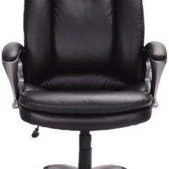 Serta Office Chair 10 Year Warranty Stressless Review 43675 Faux Leather Big & Tall Executive Chair, Black General