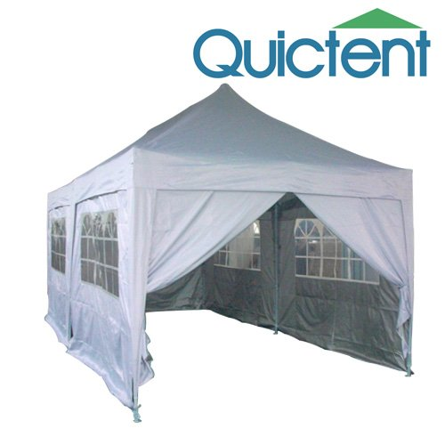 Quictent 20x10 EZ Set Pop Up Canopy Gazebo Party Wedding Tent Silver