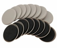 "Smart Surface 8295 3-1/2"" Round Carpet Furniture Sliders ..."