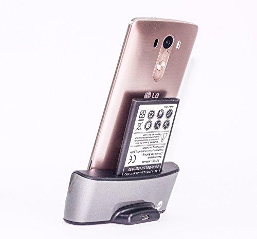 MP power 高品質 交換用 バッテリー 電池パック 2800mah 2本 +クレードル デュアル 充電器 充電スタンド 縦置き 卓上スタンドドック スタンド セット ★セットでお得 LG G3 対応
